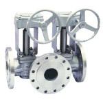 Plug valves with single double flush